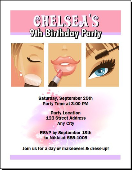 Beauty Queen Birthday Party Invitation