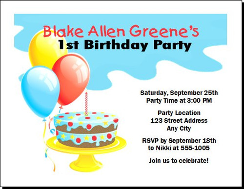 Birthday Boy Birthday Party Invitation