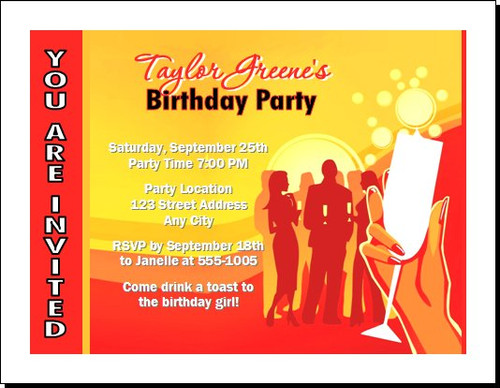 Cocktail Party Birthday Invitation