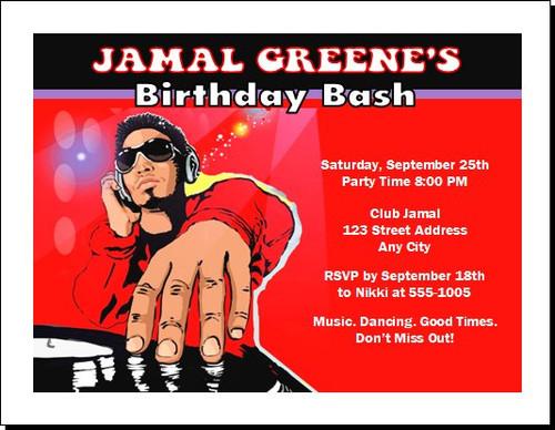 Master Funk DJ Birthday Party Invitation