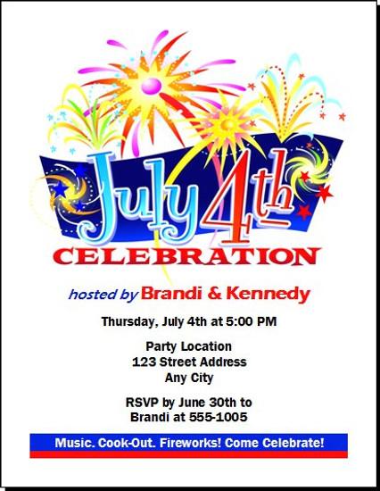 4th of July Celebration Party Invitation