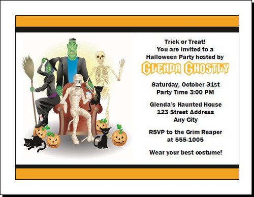 Costume Party Halloween Invitation