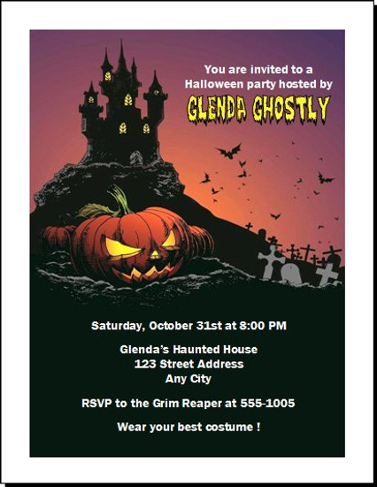 Haunted House Halloween Party Invitation Design 2
