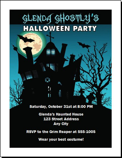 Haunted House Halloween Party Invitation Design 3