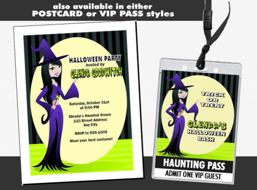 The Good Witch Halloween Party Ticket Invitation