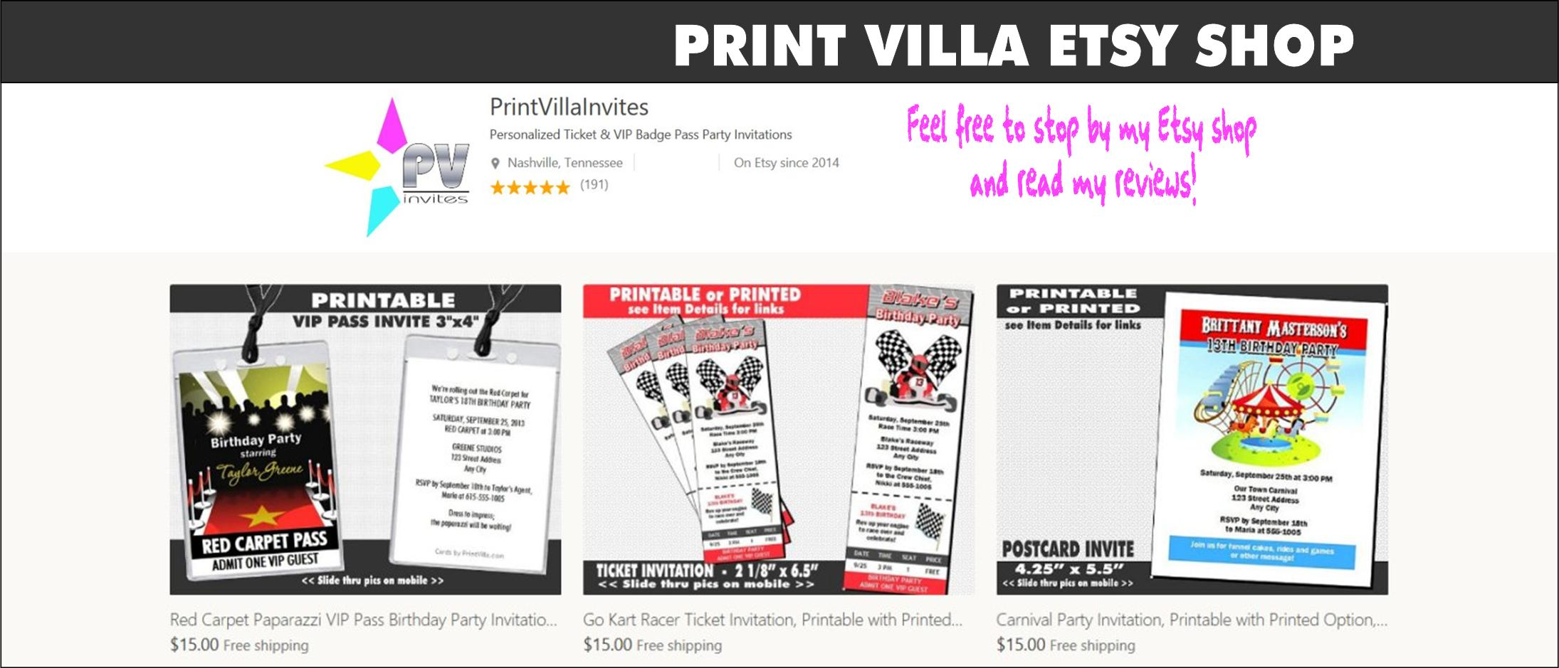 Print Villa Etsy Shop