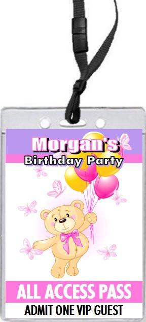 Build a teddy bear birthday party vip pass invitation build a teddy bear birthday party vip pass invitation purple stopboris Images
