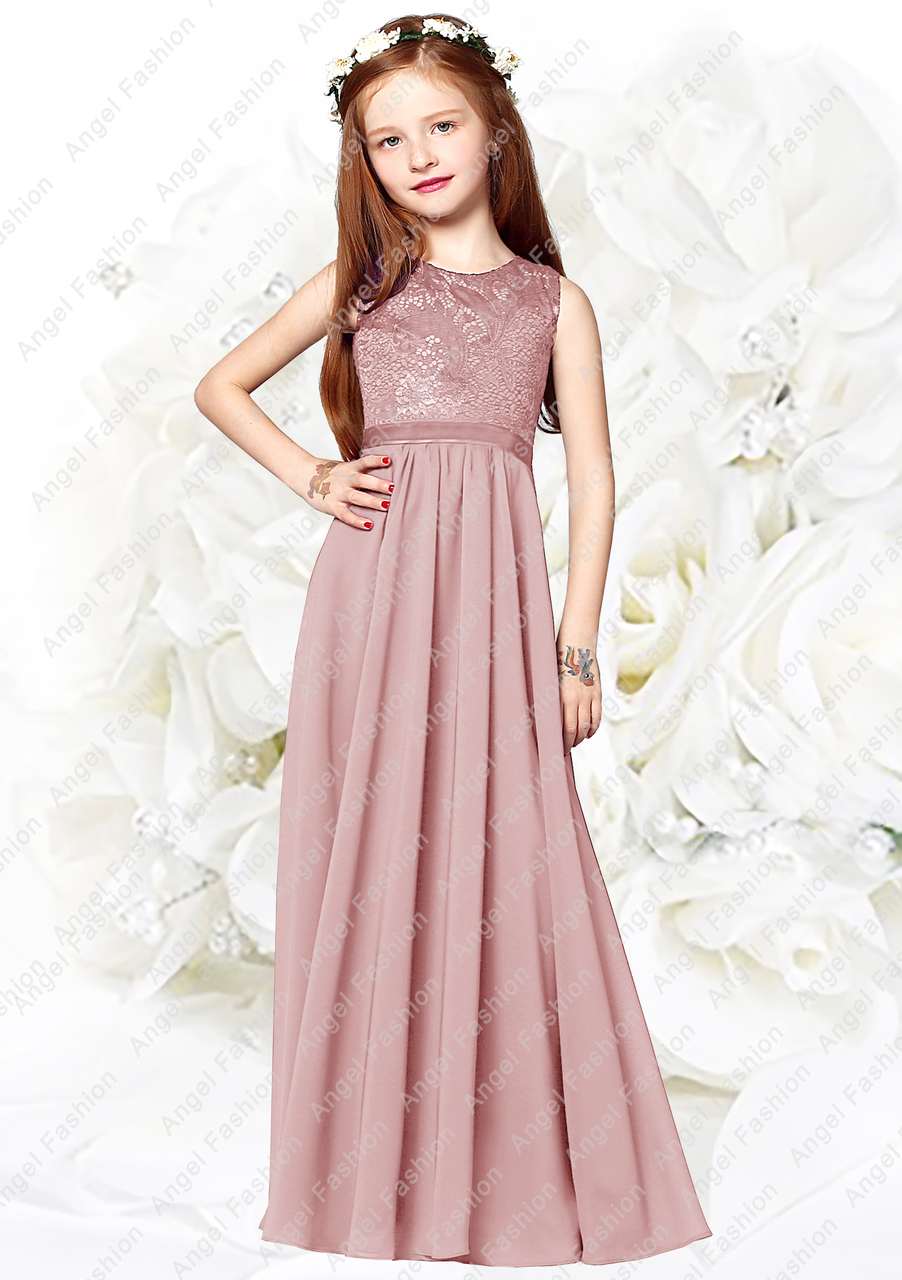 Charming Chiffon Princess Flowergirl Party Junior Wedding Bridesmaid