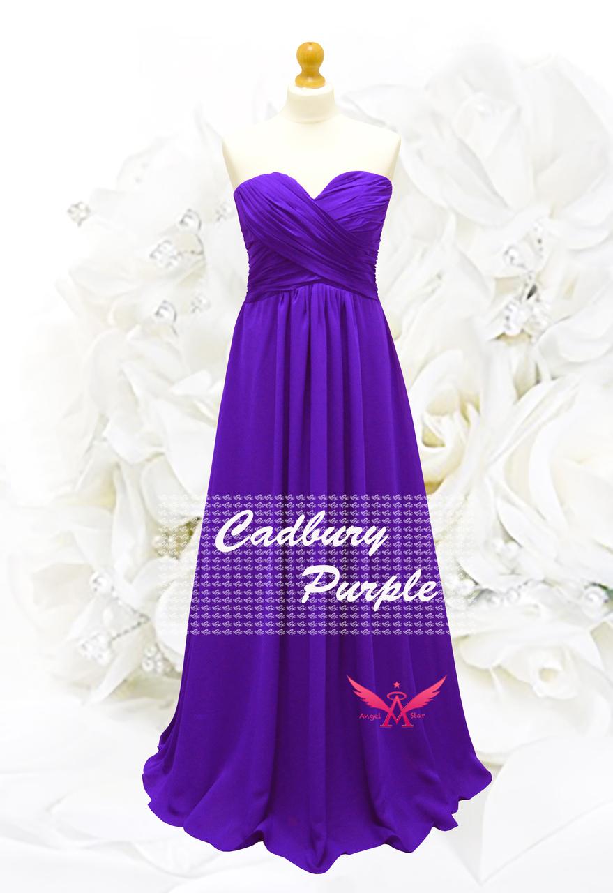 A-Line/Princess Full-Length Chiffon Evening Prom Bridesmaid Dress ...