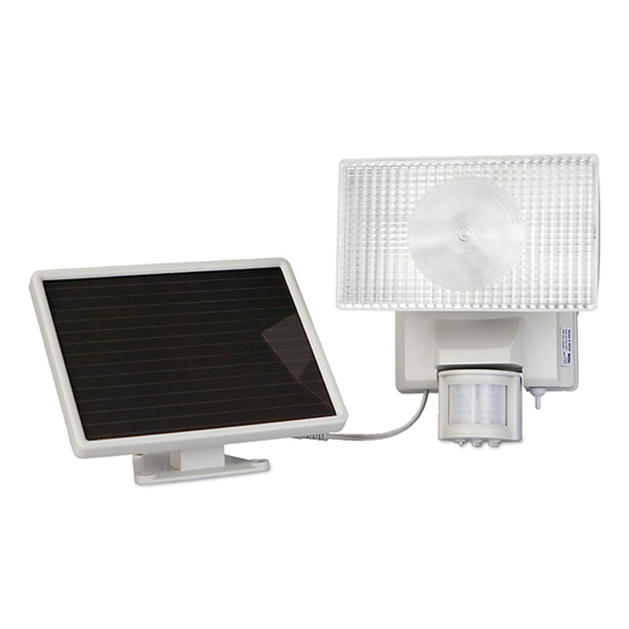 Solar-Powered 30 Watt Motion-Activated Outdoor Security Floodlight