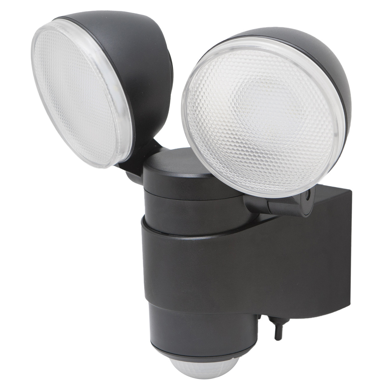 Battery powered motion activated dual head led security spotlight aloadofball Choice Image