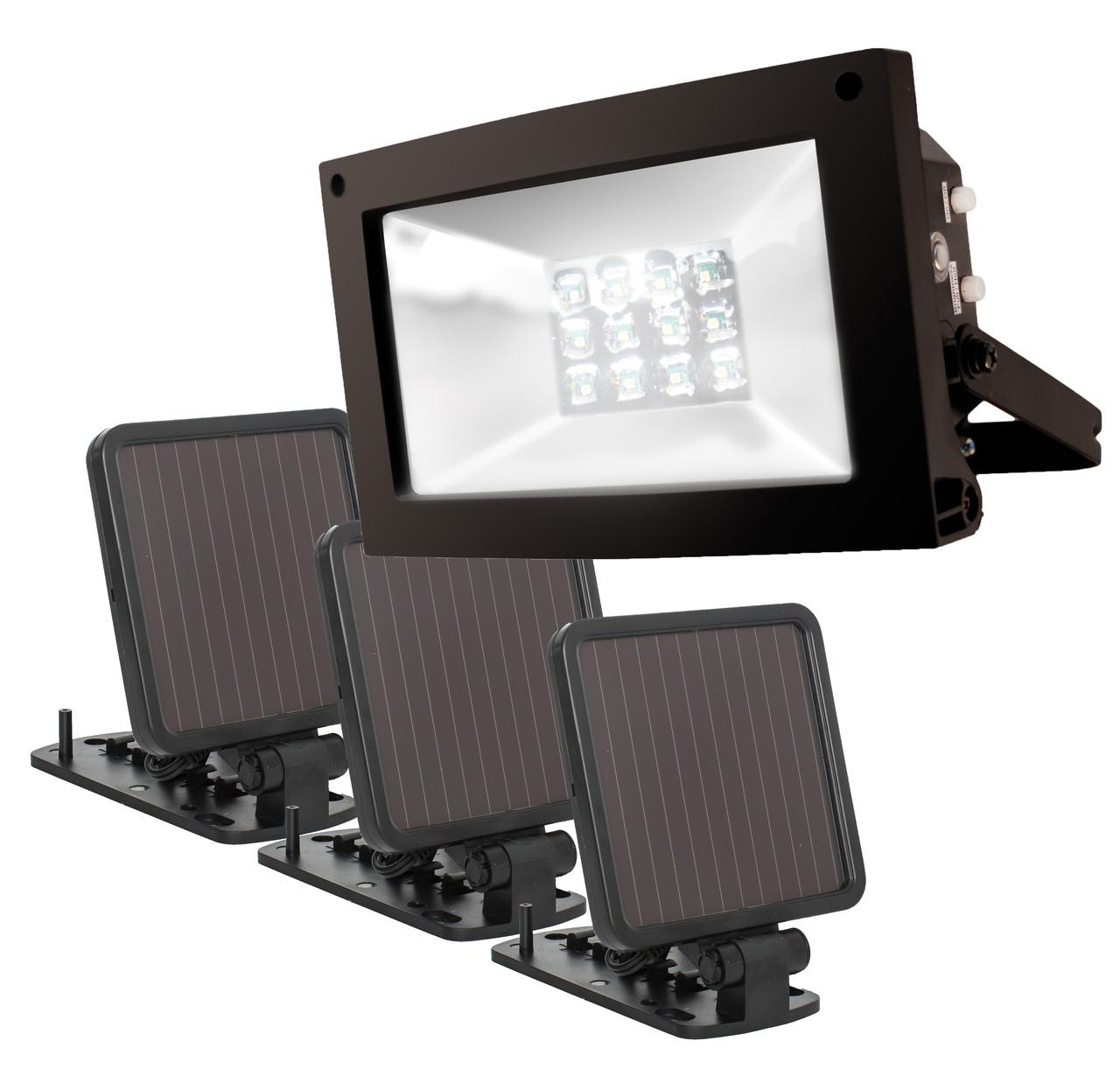 SolarPowered UltraBright Flood Light MAXSA Innovations