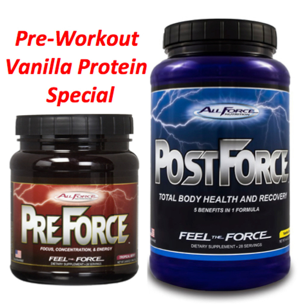 $10 Vanilla Protein with Pre Workout Purchase