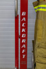 The BACKDRAFT 1000 Turnout Gear Dryer comes with printed graphics and custom department name