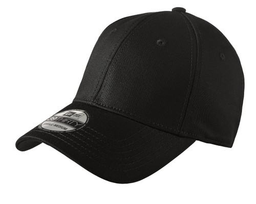 New Era Structured Stretch Cotton Cap - Black
