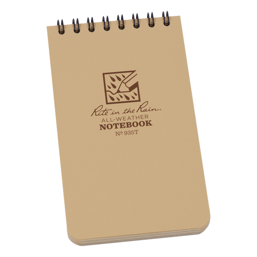 Rite in the Rain Tan Top Spiral Waterproof Notebook
