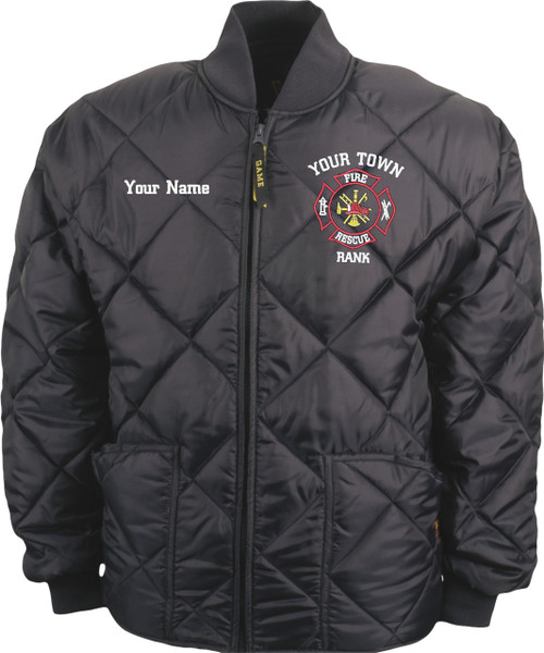 "Custom GAME ""The Bravest' Quilted Jacket"