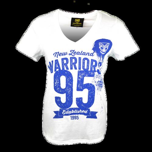 2016 Warriors Womens Supporter Tee - White