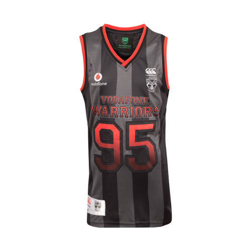 2017 Vodafone Warriors CCC Sideline Basketball Singlet - Kids