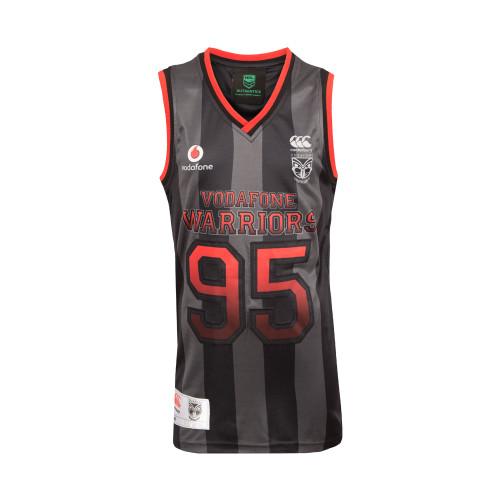 2017 Vodafone Warriors CCC Sideline Basketball Singlet - Kids