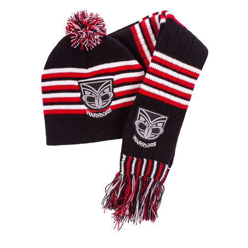 2017 Warriors Infant Beanie and Scarf Set