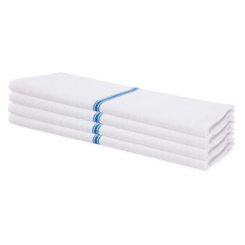 Low Lint Heavyweight Blue Stripe Herringbone Towel (1 dozen)