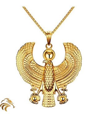 NEW! SUPREME HERU MEDALLION - 18K Gold plated - Blessed by Naazir Ra