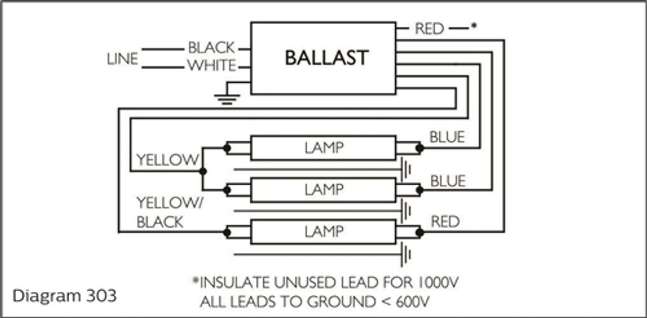 Advance ISB043214E 120v to 277v Fluorescent Ballast 14 Lamp