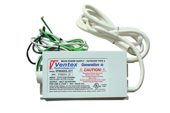 Ventex VT9030CL-277 Neon Transformer Power Supply   100v-9000v  30mA