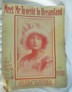 "Vintage Sheet Music ""Meet Me Tonight in Dreamland"""