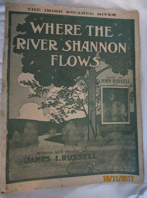 "Vintage Sheet Music ""Where the River Shannon Flows"""