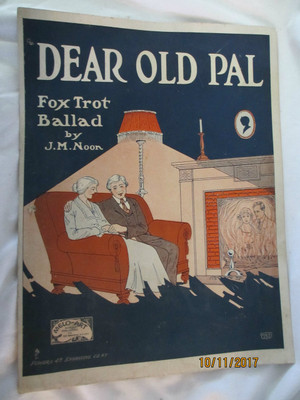 "Vintage Sheet Music ""Dear Old Pal"""