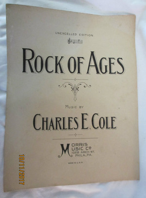 "Vintage Sheet Music ""Rock of Ages"""
