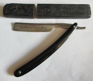 Joseph Rogers and Sons Straight Razor and Case