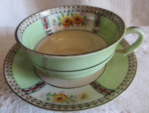 Delicate China Tea Cup and Saucer (Set 4)