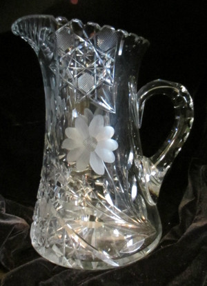 Antique Crystal Vase