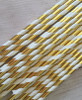 White And Gold  Straws