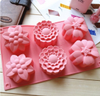 Mixed Flower Babking tray (Fits cookies) Silicone Mold