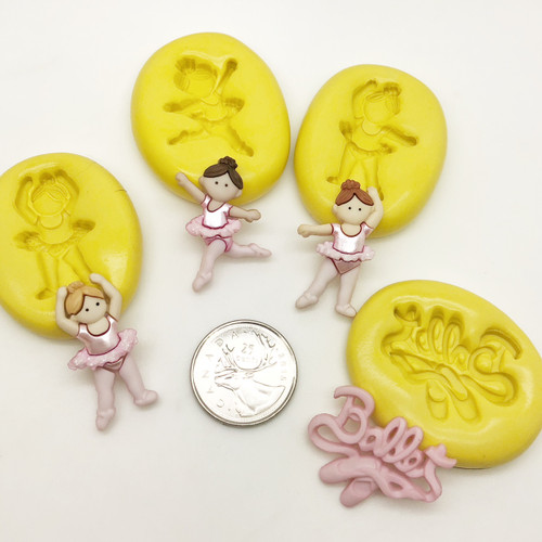 Ballet Dancer Molds Silicone  mold