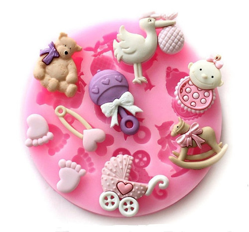 Baby Mixed 9pc  Silicone Mold