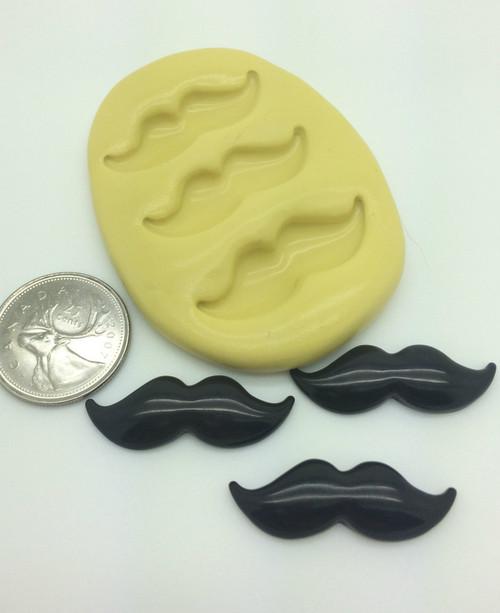 Medium moustache  Silicone Mold Set