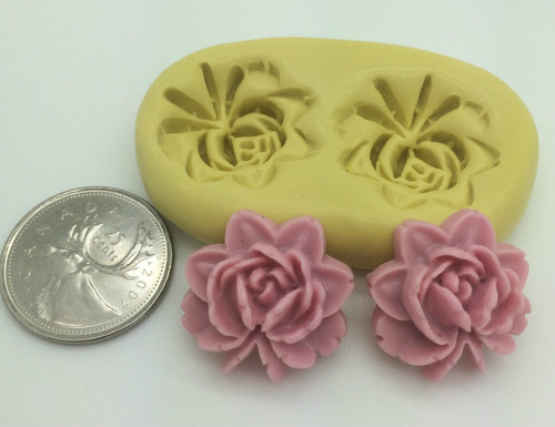 Eternal Flame Rose Flower Silicone Mold Set