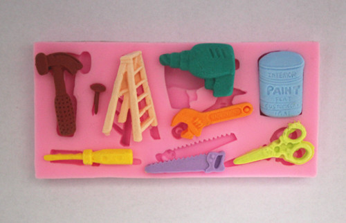 Handy Man Tool Father's Day 9pc Silicone Mold Set