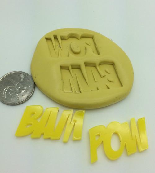 BAM / POW Comic Silicone Mold