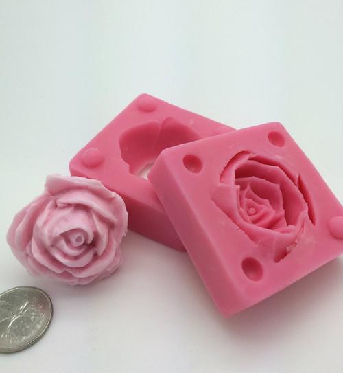 3D Rose Bud  Flower Mold PM333