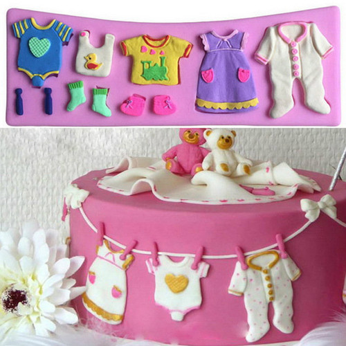 Baby Clothes 8pc set  Silicone mold