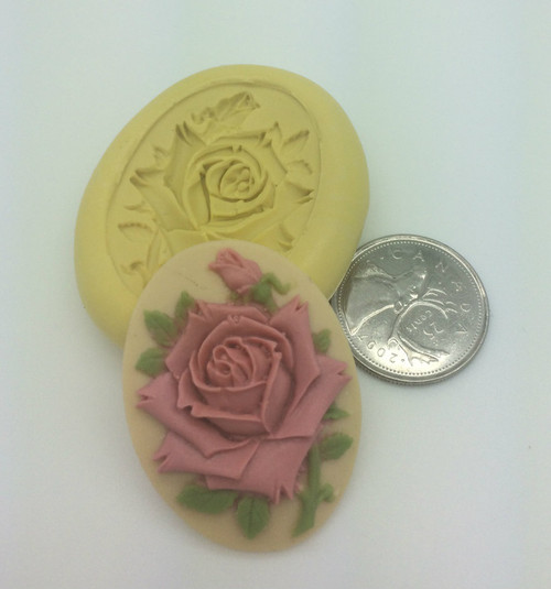 Flower Rose  Cameo Silicone Mold
