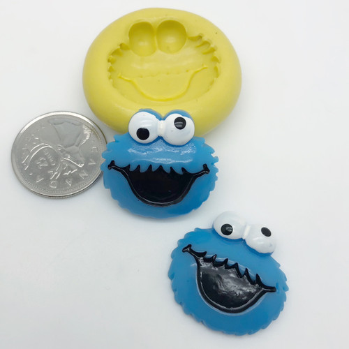 Cookie Monster Mold Silicone
