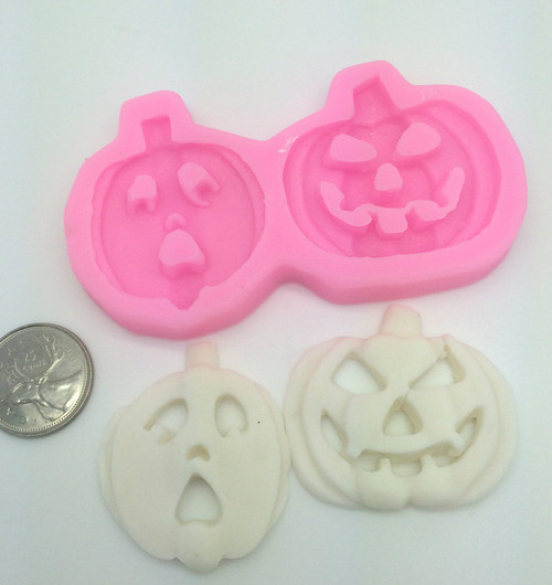 Pumpkin 2pc set Halloween  Silicone Mold