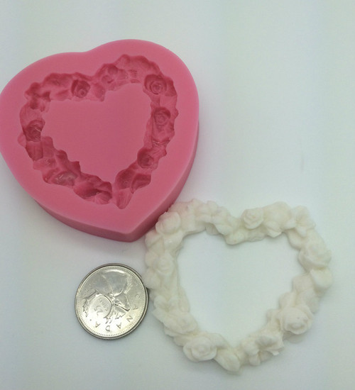 Flower Heart  Silicone Mold